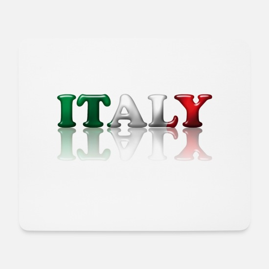 Flag Mouse Pads - Italy - Mouse Pad white