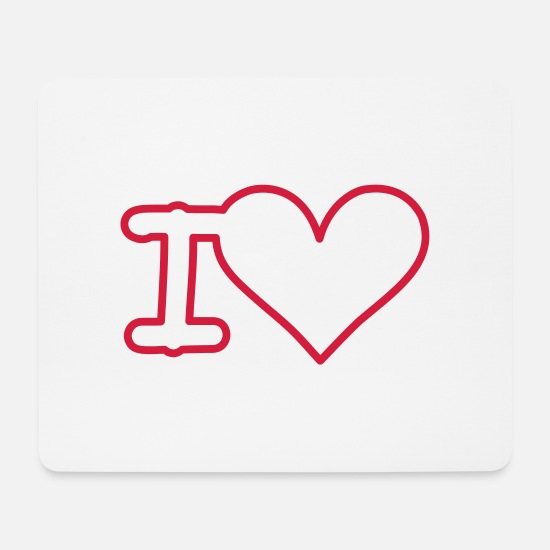 Love Mousepads  - i love - Mousepad Weiß