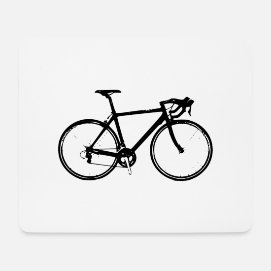 Cycling Mouse Pads - race bike - Mouse Pad white