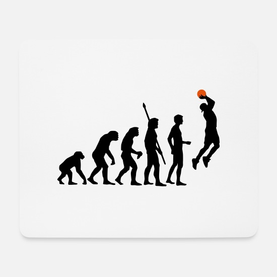 Korb Mousepads  - evolution_basketball_b_2c - Mousepad Weiß