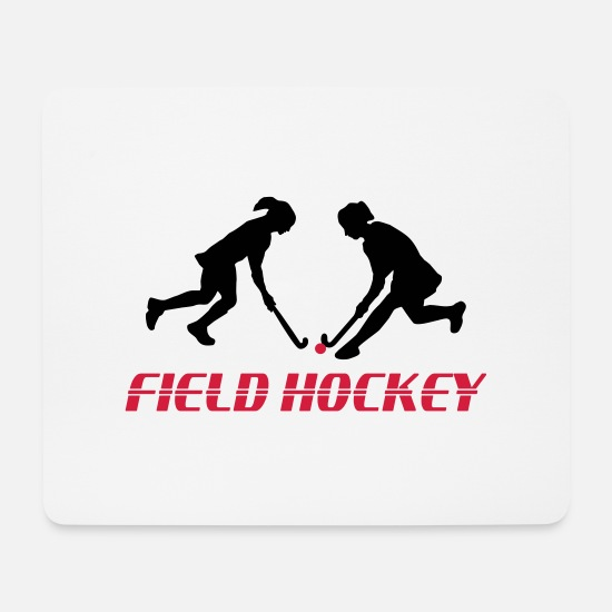Hockey Mouse Pads - Field Hockey - Women - Mouse Pad white