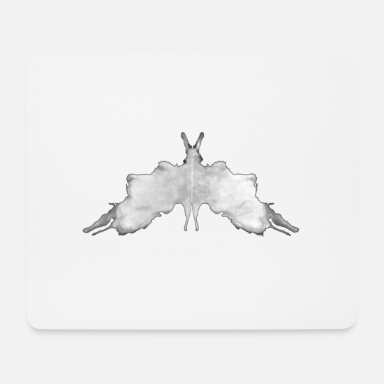 Test Mouse Pads - Rorschach panel 5/10 inverted - Mouse Pad white