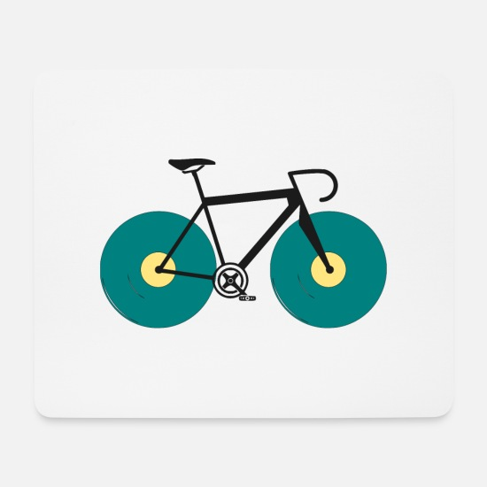 Triathlet Mouse Pads - Bike Race Vinyl Record Cycling Race Colorful - Mouse Pad white