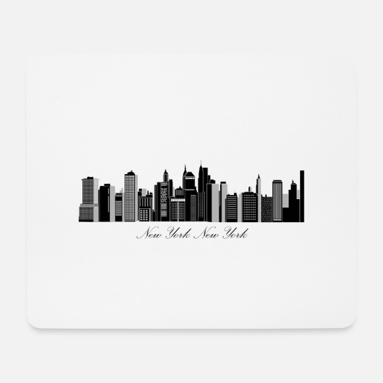 New Age Mousepads  - New York - Mousepad Weiß