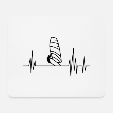 Casual Heartbeat surfing; Gift idea; Windsurfing - Mouse Pad