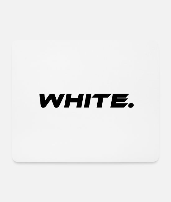 White Mouse Pads - White White Color Statement - Mouse Pad white