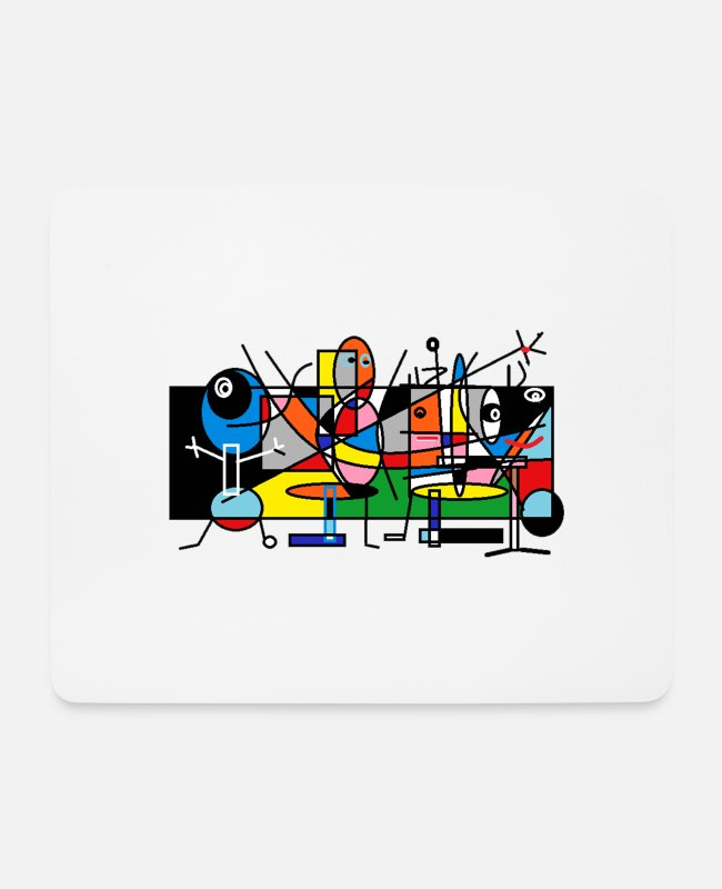 Pattern Mouse Pads - people - Mouse Pad white