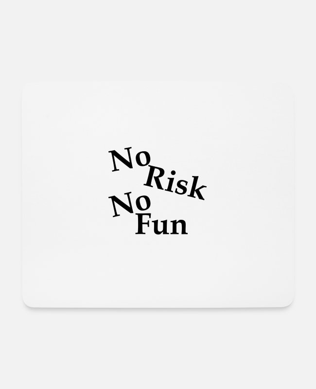 Black Stars Mouse Pads - No Risk No Fun - Mouse Pad white