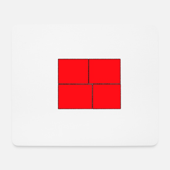 Birthday Mouse Pads - Design Red Squares, Gift, Cool Gift Idea - Mouse Pad white