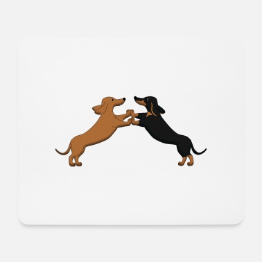 Dancing dog dancing teckel pixel - Mouse Pad
