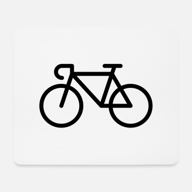 Pictograph Racing Bicycle / Bike (Icon / Pictogram) - Mouse Pad
