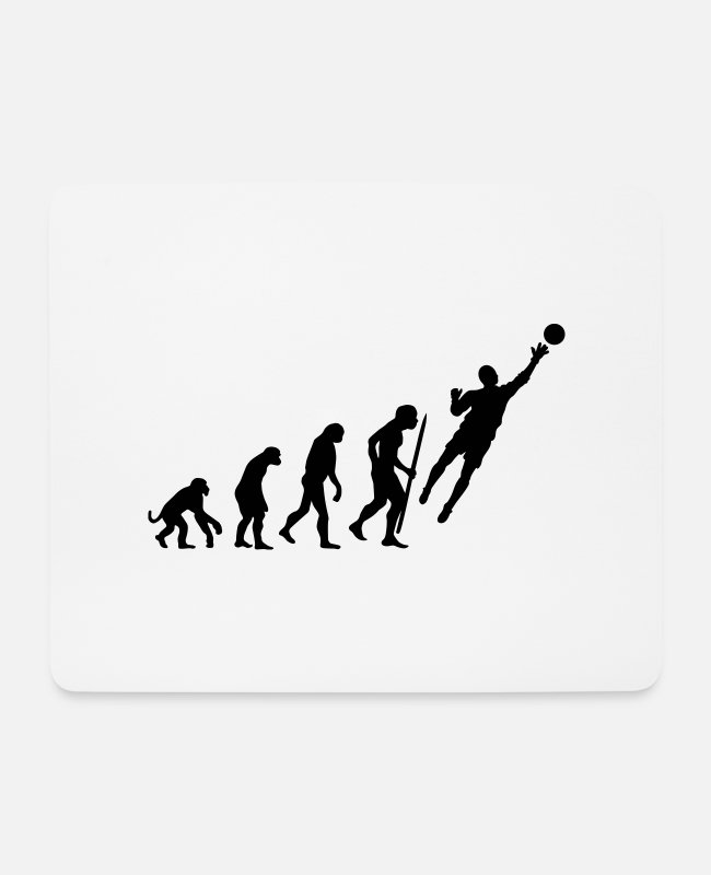 Handball Game Mouse Pads - evolution_goalkeeper - Mouse Pad white