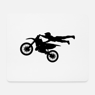 Logo Motocross - Tappetino per mouse (orizzontale)