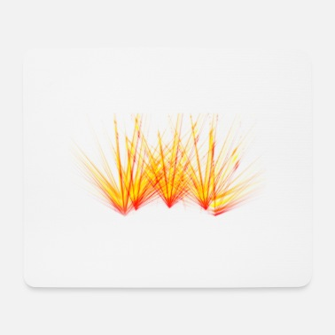 Fire beam laser colorful flame party - Mouse Pad