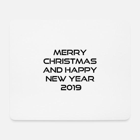 Christmas Mousepads  - merry christmas and happy new year - Mousepad Weiß