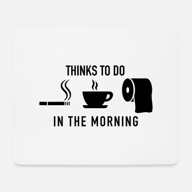Toilette in_the_morning_f1 - Mousepad