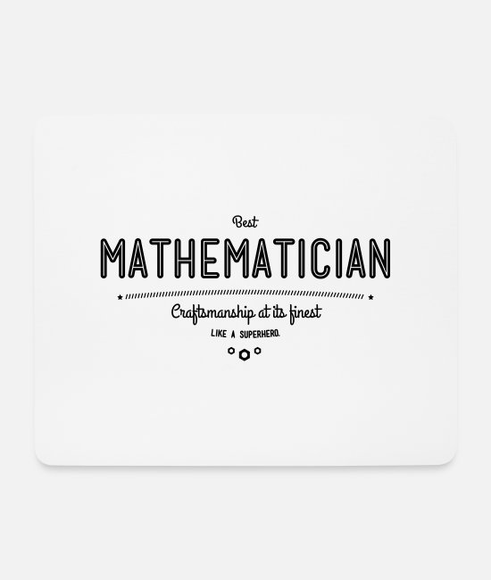 Professor Mouse Pads - Best mathematician - as a super hero - Mouse Pad white