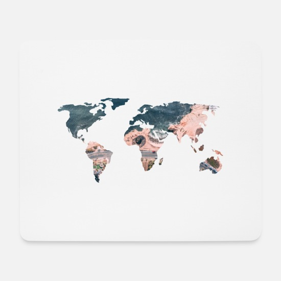 World Mouse Pads - world - Mouse Pad white