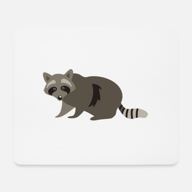 Raccoon grey brown racoon (trash bandit) - Mouse Pad