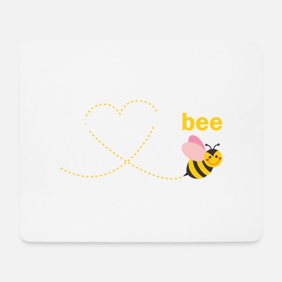 Bee Mouse Pads - Gramps to bee - Mouse Pad white