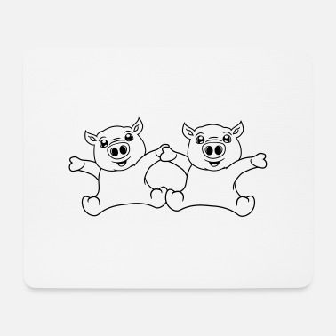 Child 2 friends team couple sitting friendly small child - Mouse Pad