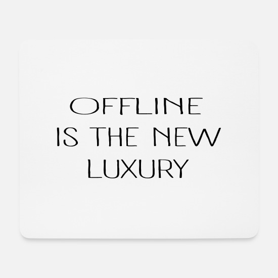 New Age Mousepads  - Luxury OFFLINE - Mousepad Weiß