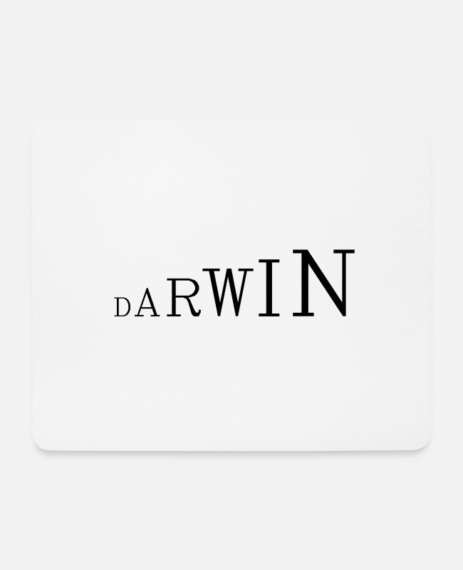 Eco Mouse Pads - Darwin - Mouse Pad white
