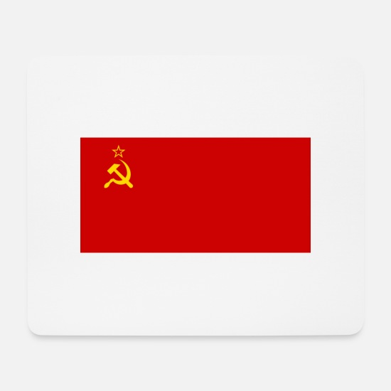 Hammer Mouse Pads - Flag of the Soviet Union - Mouse Pad white