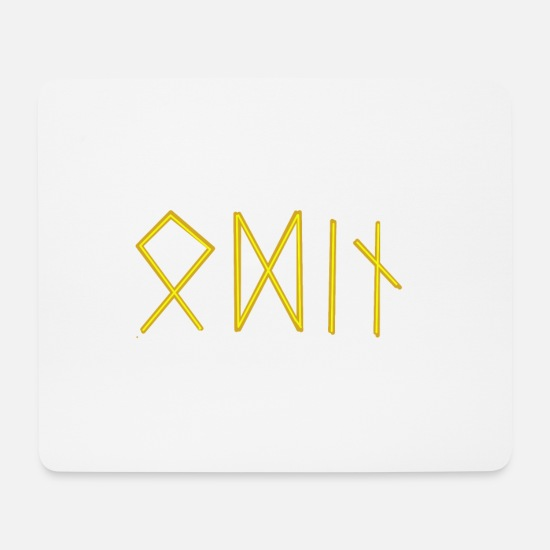 Runes Mouse Pads - Odin in runes - Mouse Pad white