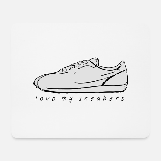 Lieben Mousepads  - love my sneakers 01 - Mousepad Weiß