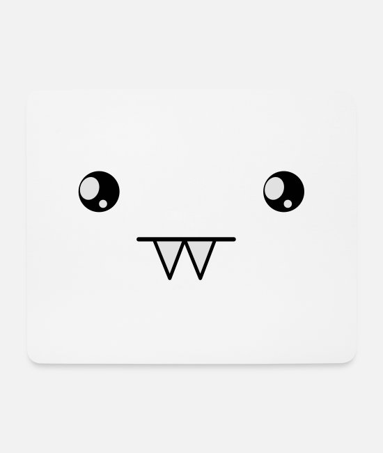 Type Mouse Pads - cute vampire kawaii face - Mouse Pad white