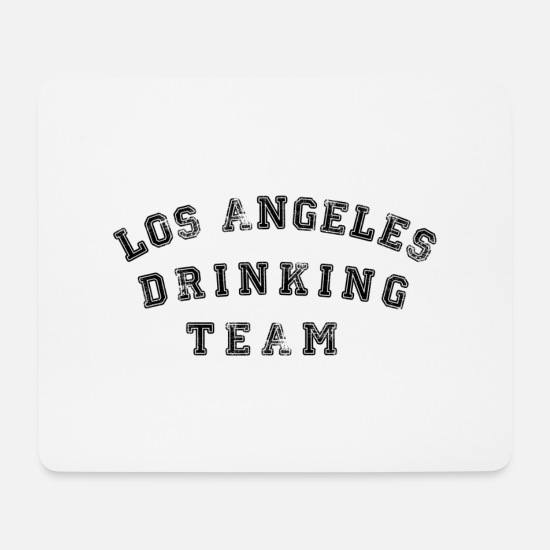 Trip Mouse Pads - Los Angeles Drinking Team - Mouse Pad white