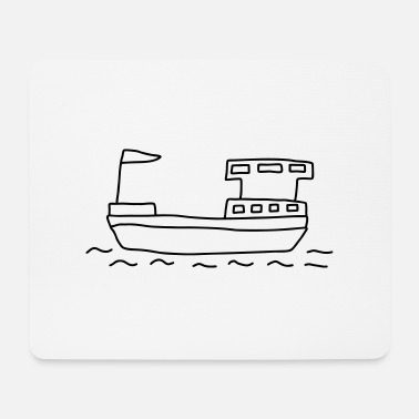 Freighter Ship Houseboat - Mouse Pad