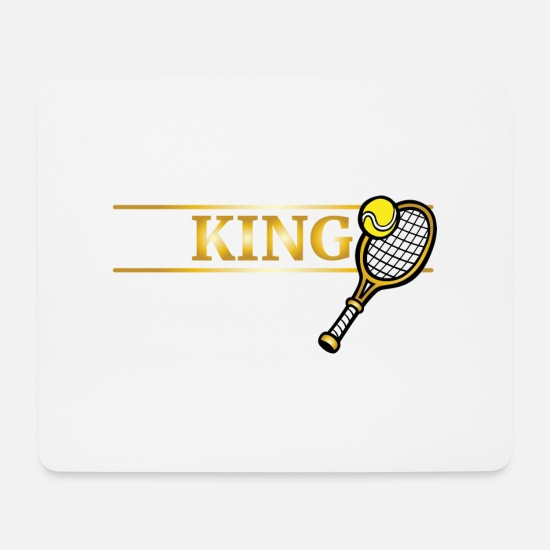 Game Mouse Pads - Tennis Winner Bat Gift Trophy Sport Ball - Mouse Pad white