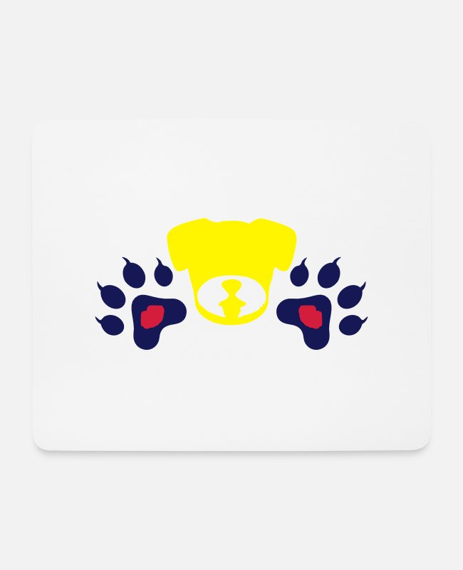I Love Wild Animals Cool Awesome Animal Footprint Sign Design For Cute Animal Fashion Products Mouse Pads - ♥ټMwah Dog Footprints-I Love Animalsټ♥ - Mouse Pad white