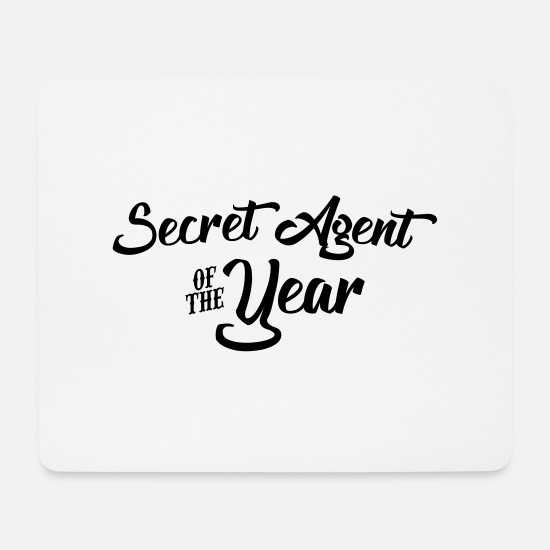 Agent Mouse Pads - secret agent of the year 2107 2018 2019 - Mouse Pad white