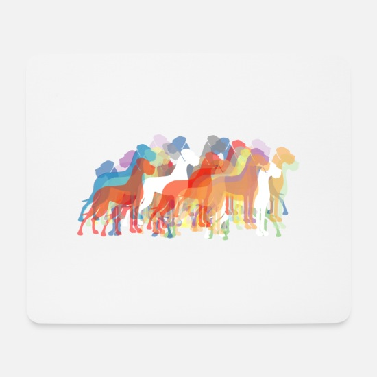Great Dane Mouse Pads - Danes color world - Mouse Pad white