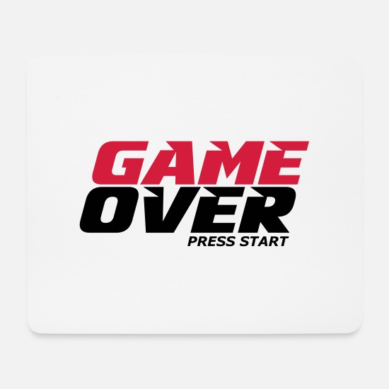 Game Over Mousepads  - Spiel - Mousepad Weiß