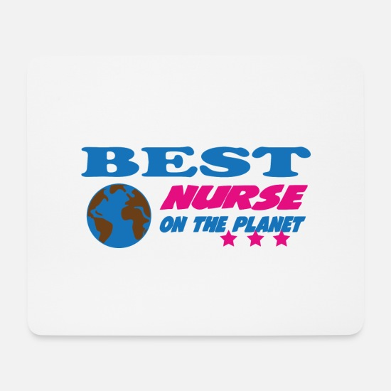 Doctor Mouse Pads - Best nurse on the planet - Mouse Pad white