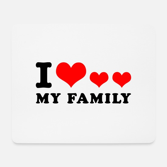 Opa Mousepads  - I love my family - Mousepad Weiß