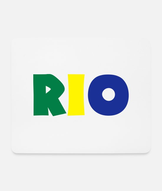 South America Mouse Pads - rio - Mouse Pad white