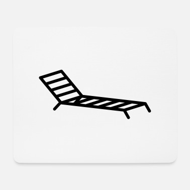 Recreational Deck chair holiday recreation - Mouse Pad