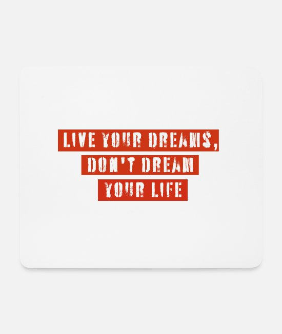 Liverpool Mouse Pads - Live your dream banner red - Mouse Pad white