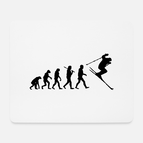 Winter Sports Mouse Pads - ski - skiing - Mouse Pad white