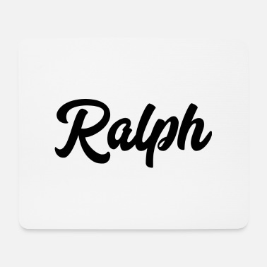 Text Ralph Custom Text Birthday Name - Mouse Pad