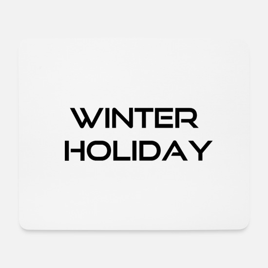 Winter Mousepads  - winter holiday - Mousepad Weiß