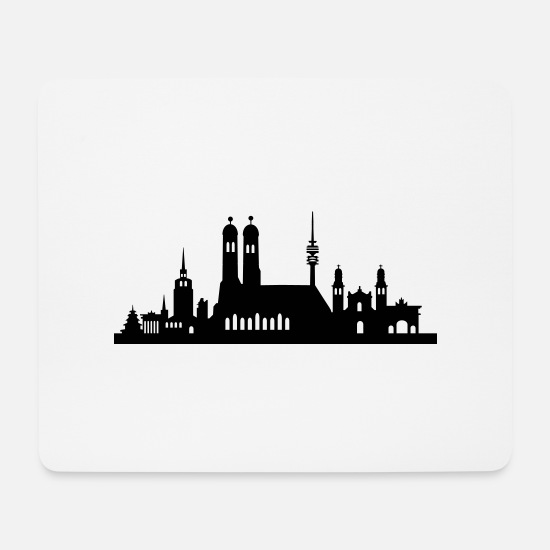 Memory Mouse Pads - Munich Skyline small - Mouse Pad white