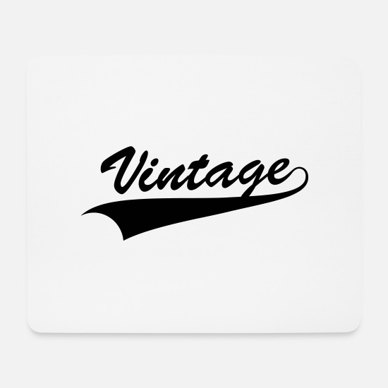 Clothing Mousepads  - Vintage - Mousepad Weiß