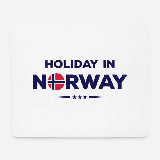 Norway Mousepads  - norway holiday - Mousepad Weiß