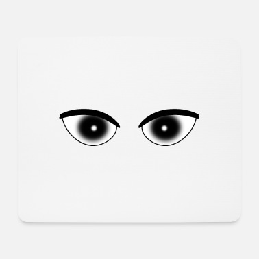 Pupil Eyes pupil white - Mouse Pad